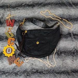 Coach Satin Shoulder Hobo bag Black